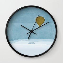Jules Verne's Around the World in Eighty Days - Minimalist literary design, literary gift Wall Clock