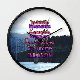No Boundaries Wall Clock