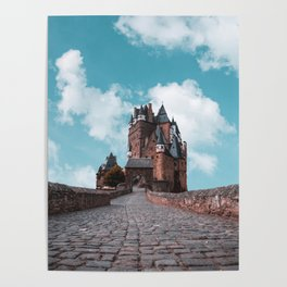 Burg Eltz Castle Germany Up in the Clouds Poster