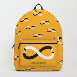 Never stop creating (the infinity pencil) Backpack