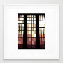 Colored Glass Framed Art Print