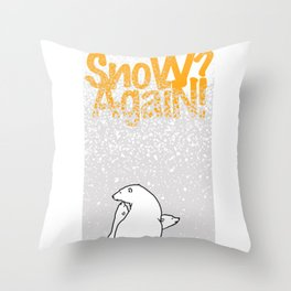 SnoW AgaiN and the PolaR BearS Throw Pillow
