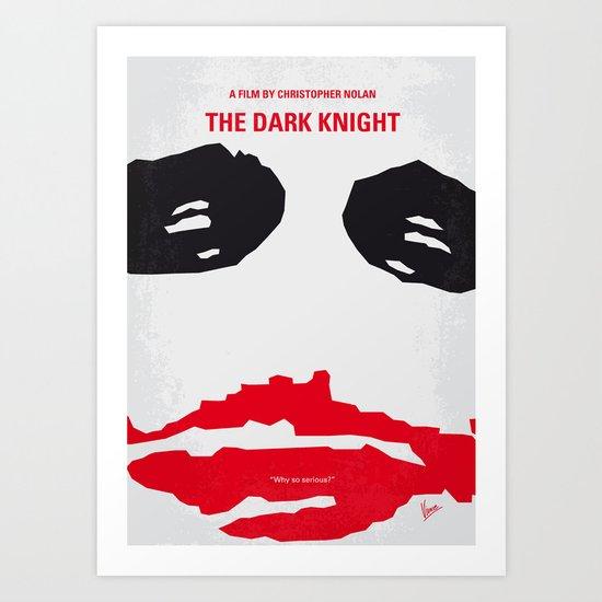 No245 My Dark minimal Knight movie poster Art Print