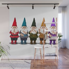 Hangin with my Gnomies - The line up Wall Mural