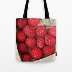 Raspberry Heart Tote Bag