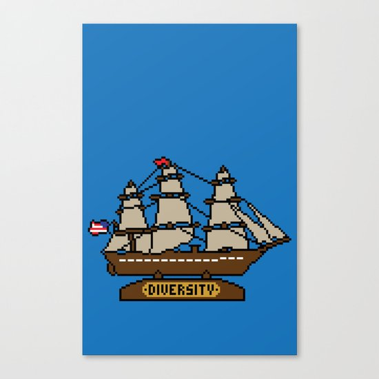 Anchor Pixel Canvas Print