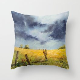 A Stormy Sky Throw Pillow
