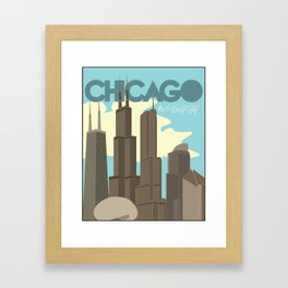 Chicago - The Windy City Framed Art Print