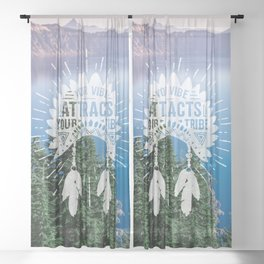Your Vibe Attracts Your Tribe - Crater Lake Sheer Curtain