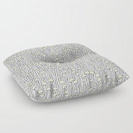 Enokitake Mushrooms (pattern) Floor Pillow