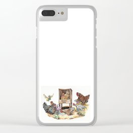 """Life in the Coop"" funny chicken watercolor Clear iPhone Case"