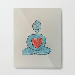 Calm Heart Metal Print