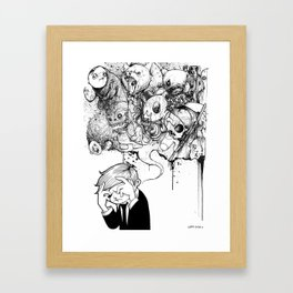 A Heavy Heart Framed Art Print