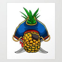 Pirate Pineapple Viking Novelty Halloween Art Print