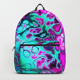 Awesome Fractal in hot pink and teal Backpack