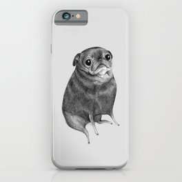 Sweet Black Pug iPhone Case