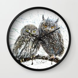 little owl's Wall Clock