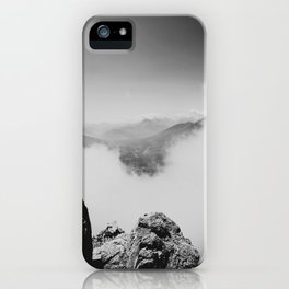Innsbruck rocks and clouds iPhone Case