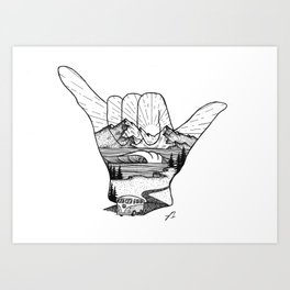 Shaka Art Print