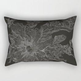 Mount Rainier, WA Contour Map Rectangular Pillow