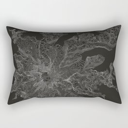 Mount Rainier, WA Contour Map Rectangular Pillow
