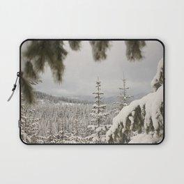Snowy Depth of Field Laptop Sleeve
