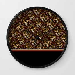 Tiger Stripe Mosaic Tile Modern Abstract Wall Clock