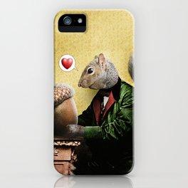 Mr. Squirrel Loves His Acorn! iPhone Case