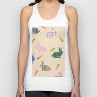 rabbits Tank Tops featuring rabbits by vitamin