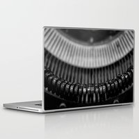 typewriter Laptop & iPad Skins featuring Typewriter by Anne Seltmann