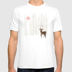 Reindeer of the Silver Wood Mens Fitted Tee MEDIUM White