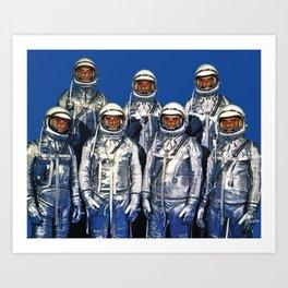 ASTRONAUTS & BUTTERFLIES Art Print