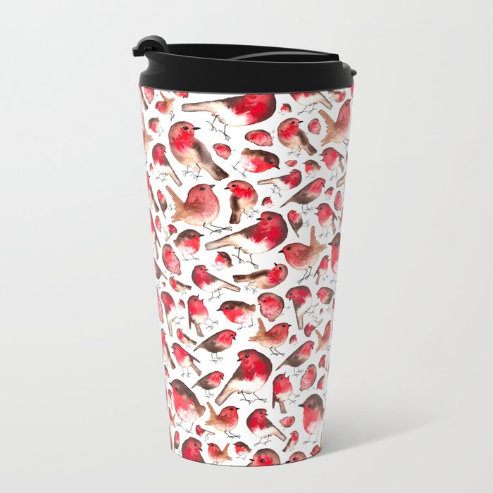 Robins Metal Travel Mug