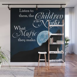 Children of the Night - Bram Stoker quote from Dracula Wall Mural