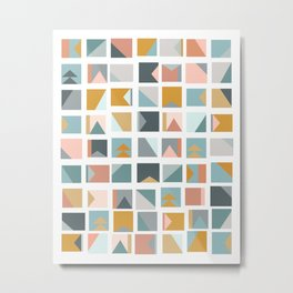 Mini Quilt Blocks Metal Print