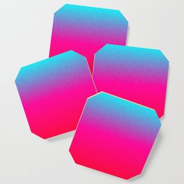 Blue purple and pink ombre flames Coaster
