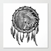 dream catcher Canvas Prints featuring Dream Catcher by Astrablink7