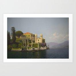 Villa at Lake Como Art Print
