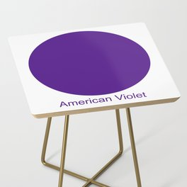 American Violet Side Table