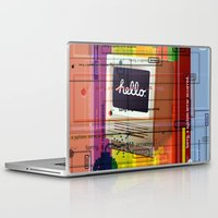 mac Laptop & iPad Skins featuring Hello Mac by Roberlan Borges
