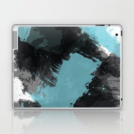 Black and Blue Paint Splash Laptop & iPad Skin