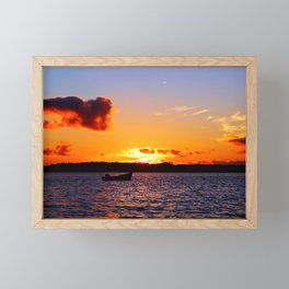 Anchored to Buoy at Dusk Framed Mini Art Print