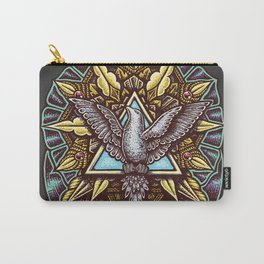 Trinity Merkabah Spirit Dove Mandala Carry-All Pouch