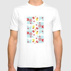 time (line) MEDIUM White Mens Fitted Tee