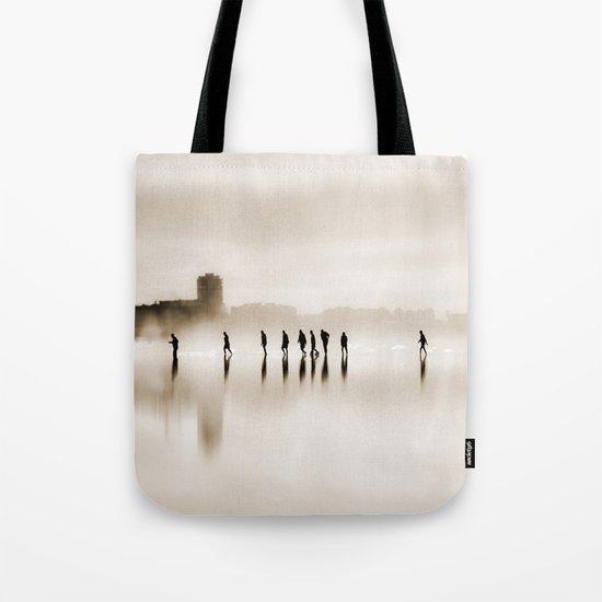 people walk Tote Bag