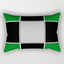 TEAM COLORS 3......GREEN,BLACK, AND GRAY Rectangular Pillow