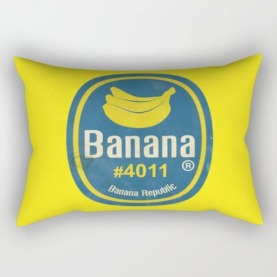 Banana Sticker On Yellow Rectangular Pillow