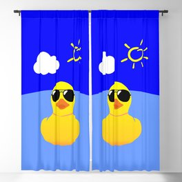 Cool Rubber Duck Yellow Blackout Curtain
