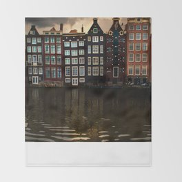 Postcards from Amsterdam Throw Blanket