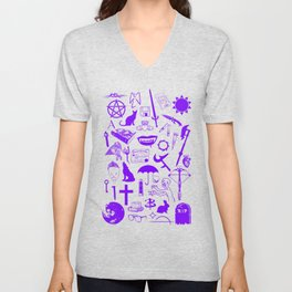 Buffy Symbology, Purple Unisex V-Neck